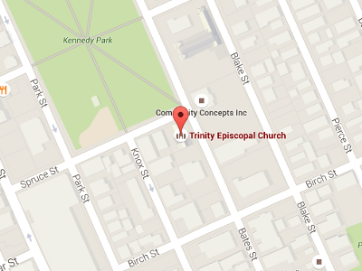 Map to Trinity Church